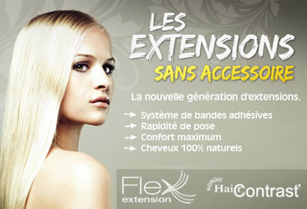 Pose d'extensions flex hair contrast